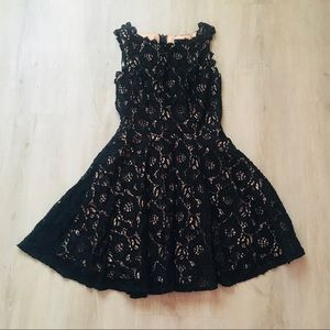 Lace Mini Black Dress